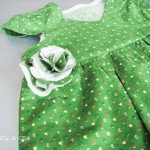 Girls Dress with flower corsage