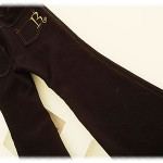 "Slim pants ( Trousers ) in Black with embroidery ""R"""