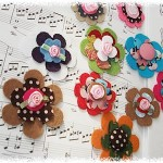 Flowers for hair clip