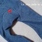 Monkey spats with denim knit