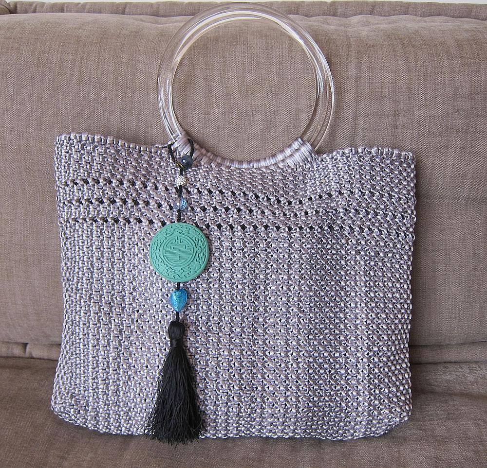 bag charm with bag
