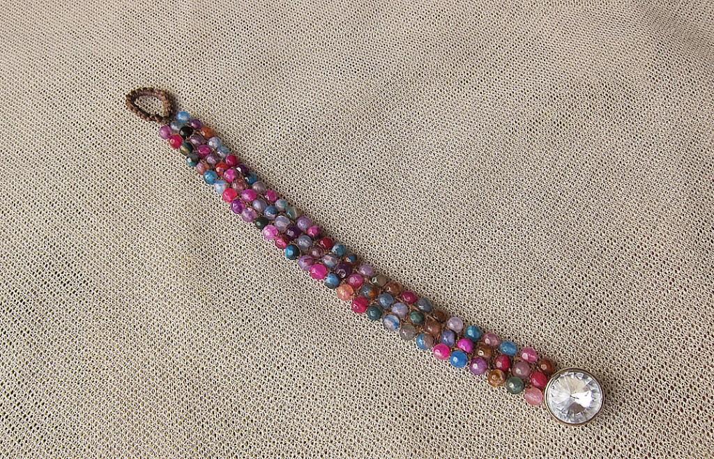 bracelet colorful stone