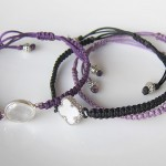 Chinese (flat) Knot Bracelet with Charms