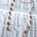 Lariat necklace with Orange Wood Beads