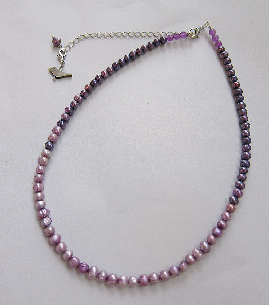 pearl purple neckless