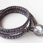 Wrap bracelet in purple
