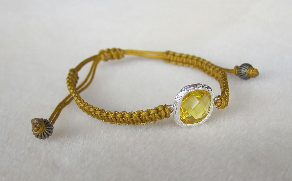 flat knot bracelet karashi