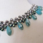 Party necklace with beautiful glass beads