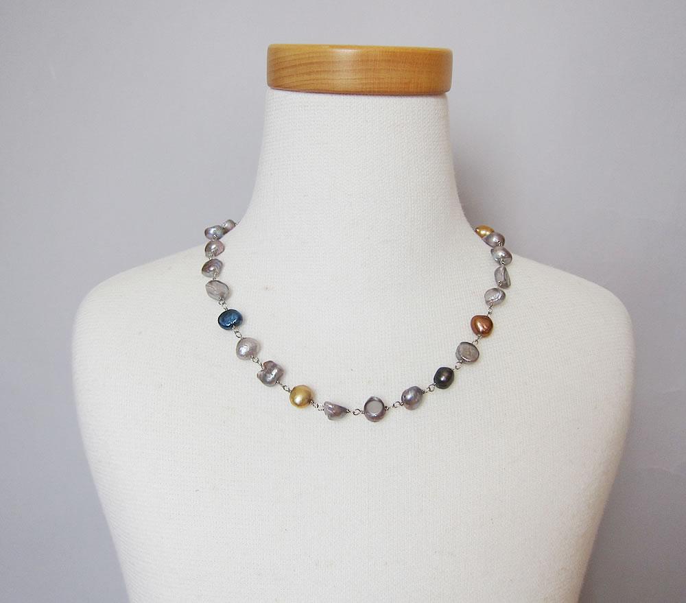 potato shell necklace
