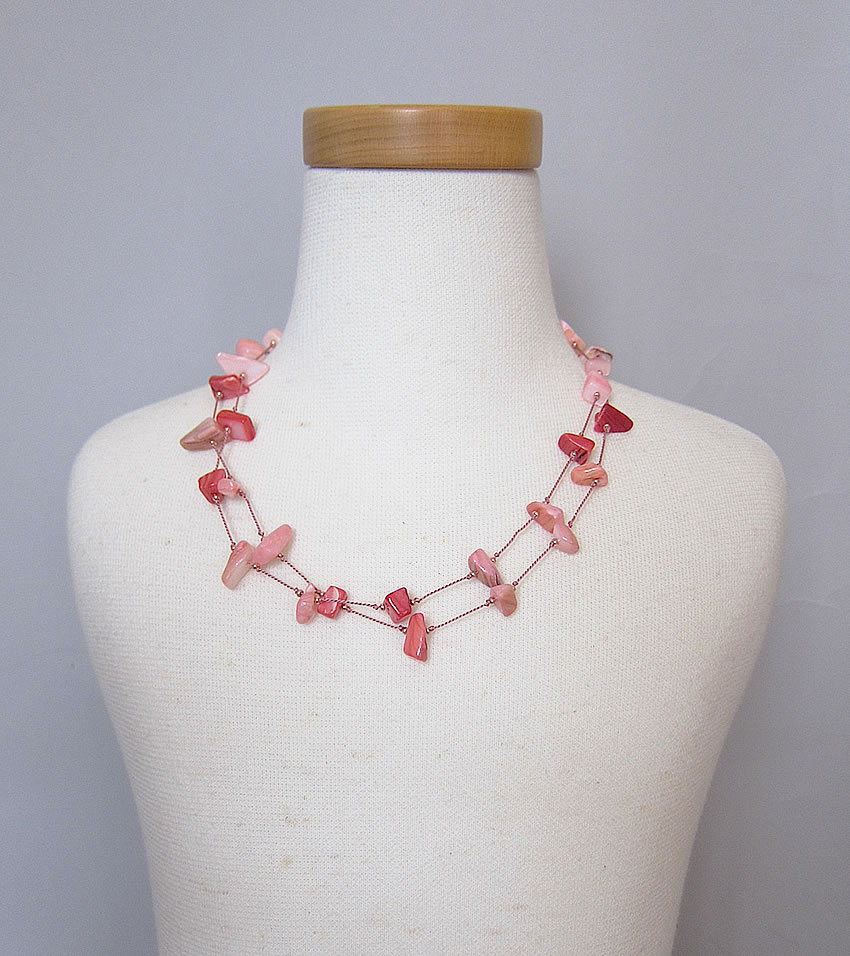 shell pink necklace4