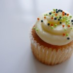 Silky light cupcake with pearl sugars