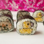 CREATIVE SUSHI ROLL / teddy bear and baby chick