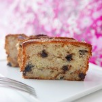 Banana pound cake with chocolate chips