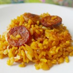 Easy chorizo paella
