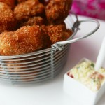 Crispy Fish Bites with tartar sauce