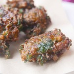 Minced squid fry balls