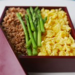 Tri-coloured Japanese rice bowl- lunch box – Sanshoku bento