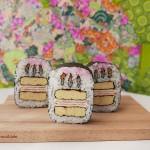Creative Sushi Roll – Kazari Sushi – Birthday Cake