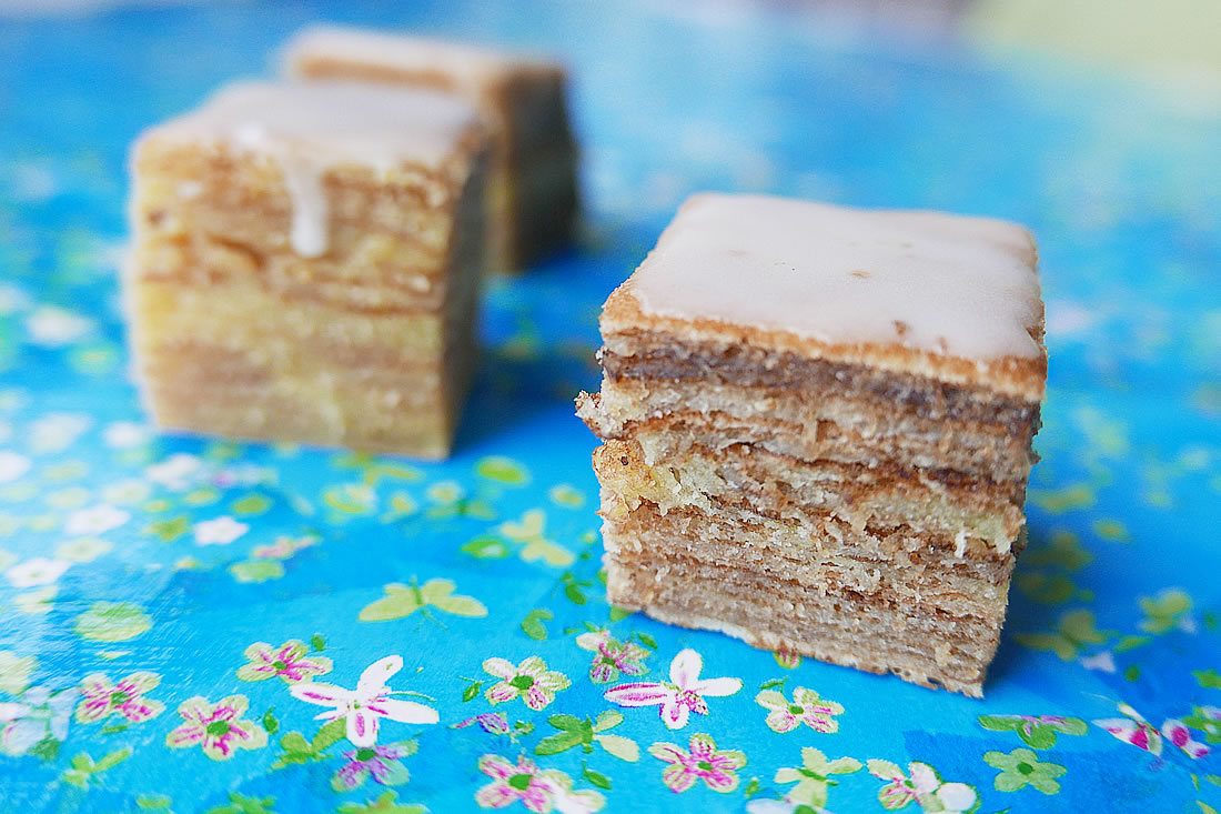 Baumkuchen with crunchy sugar glaze