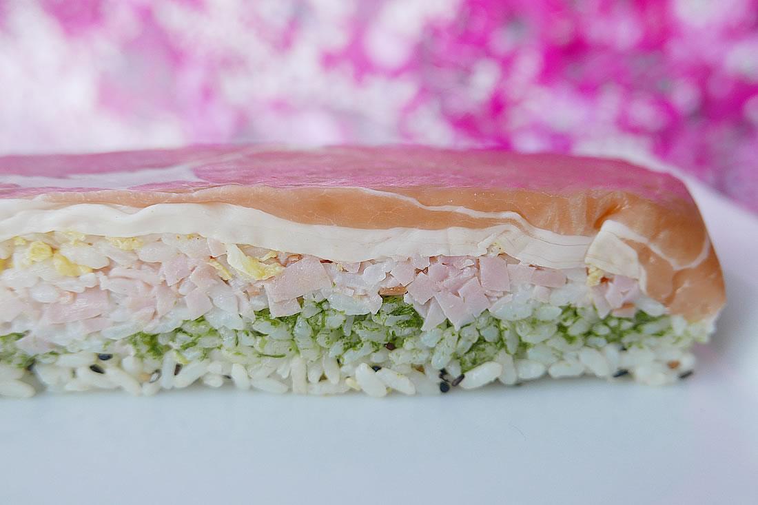 Pound cake sushi