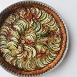 Wafu zucchini / courgette tart