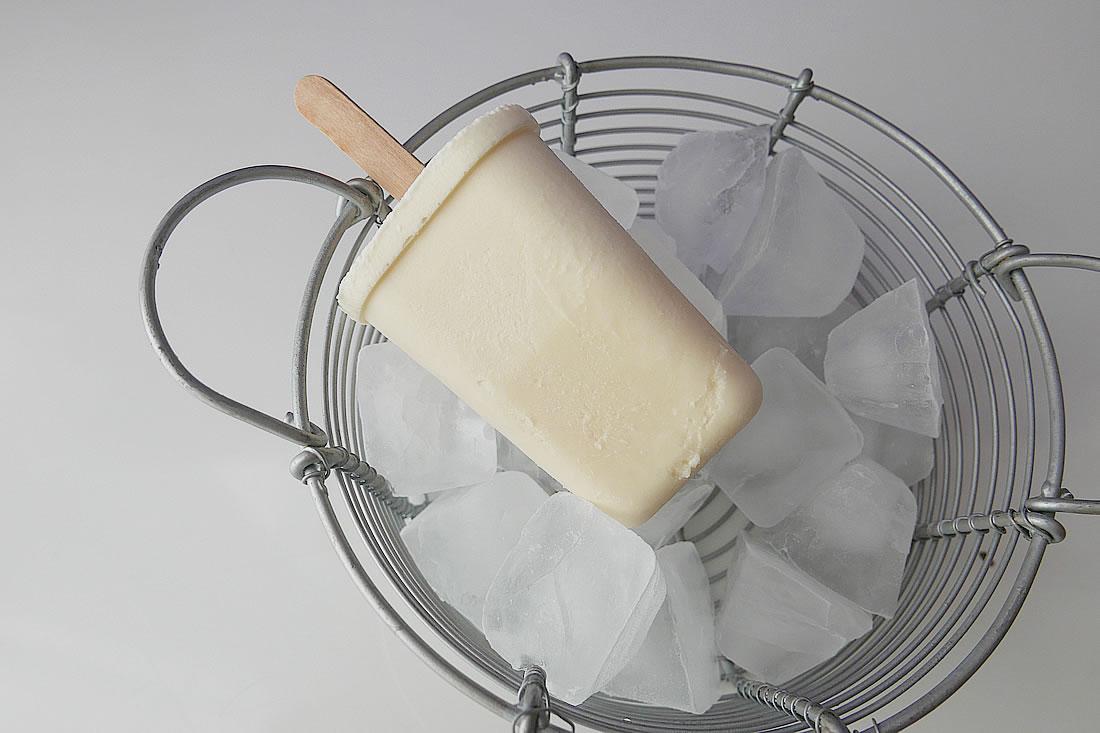 Creamy vanilla Ice Pop