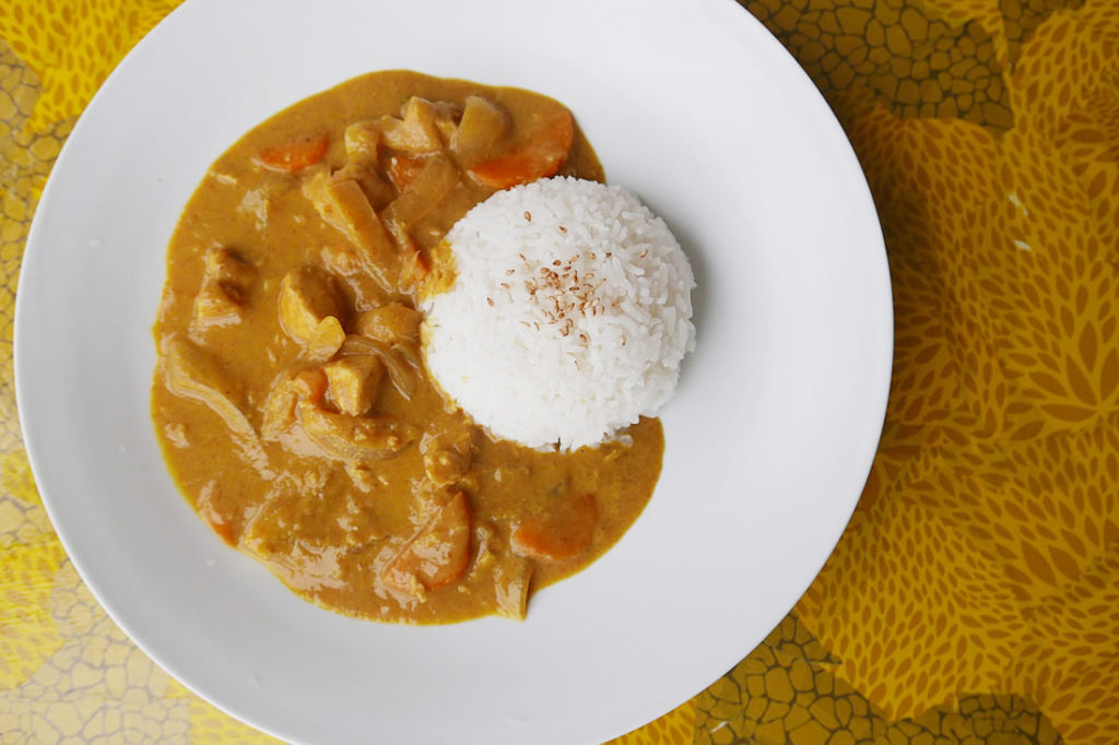 mango chicken curry1