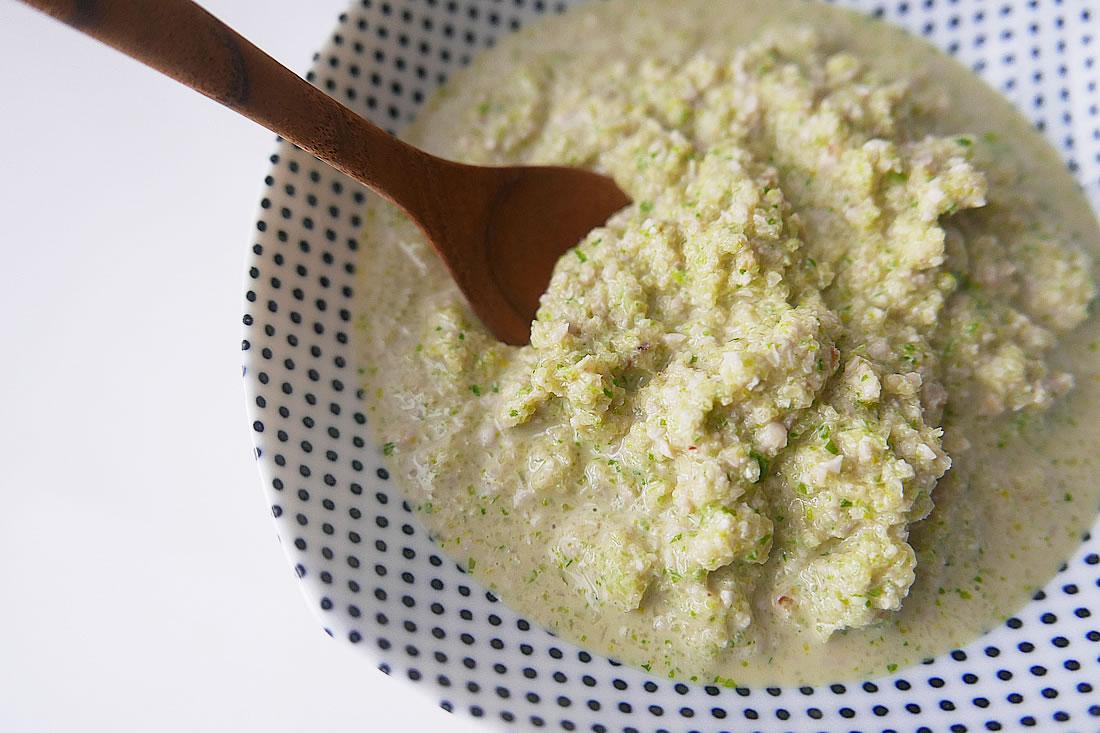 Celery puree - pasta sauce