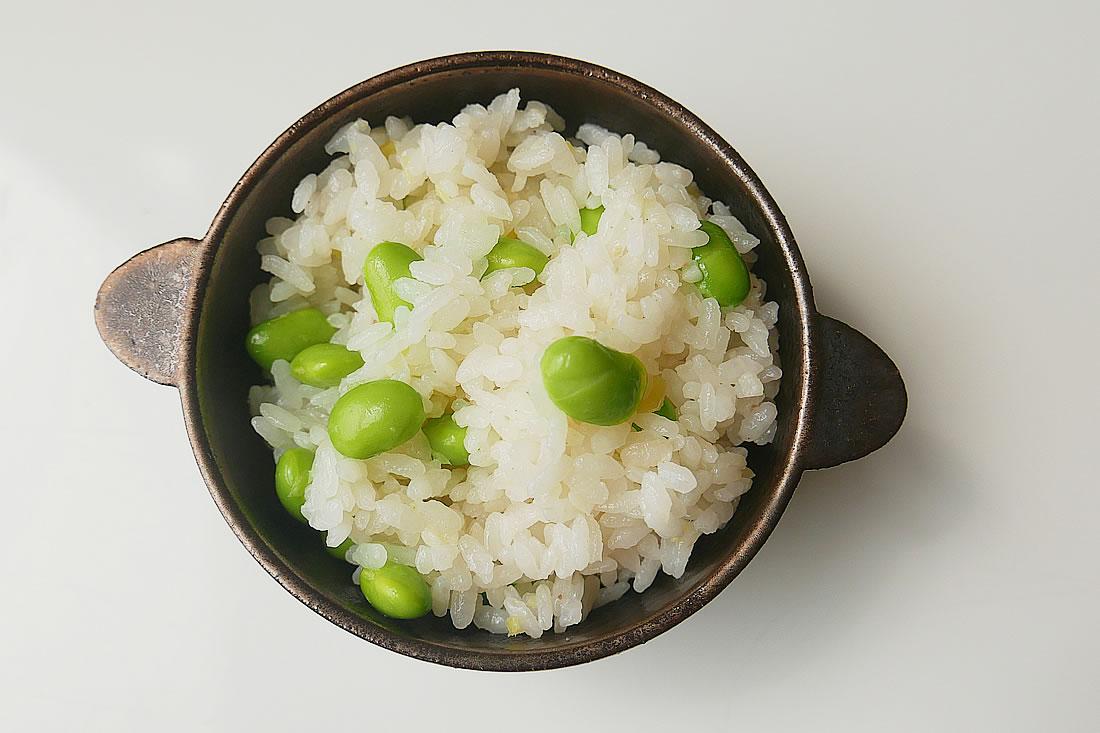 Edamame rice (gohan)