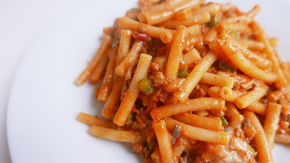 Macaroni pasta - cheese tomato