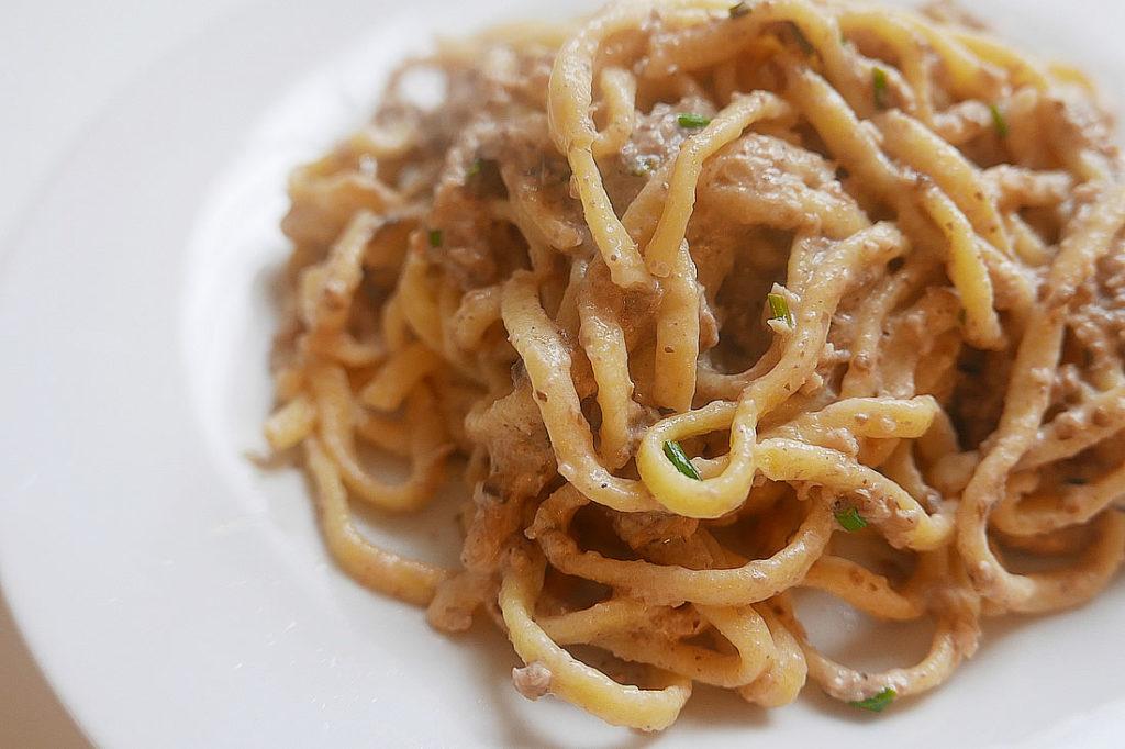 Creamy mushroom pasta paste