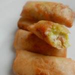 Salmon & avocado spring rolls