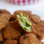 Chicken nuggets with basil
