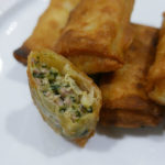 Creamy pork spring rolls