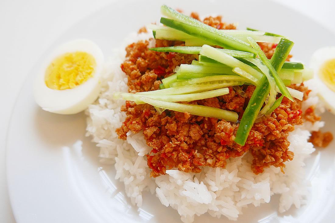 Easy ground pork rice