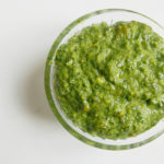 Basil and pistachio paste
