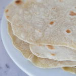 Homemade easy flour tortillas