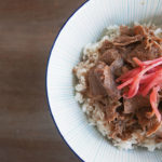 Beef on rice – Gyudon