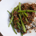 Stir-fried green beans with minced pork