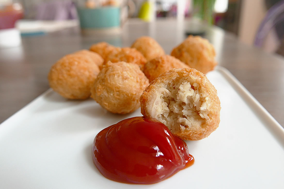 Easy fried chicken balls