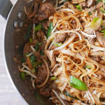Beef stir fried rice noodle (Chow fun)
