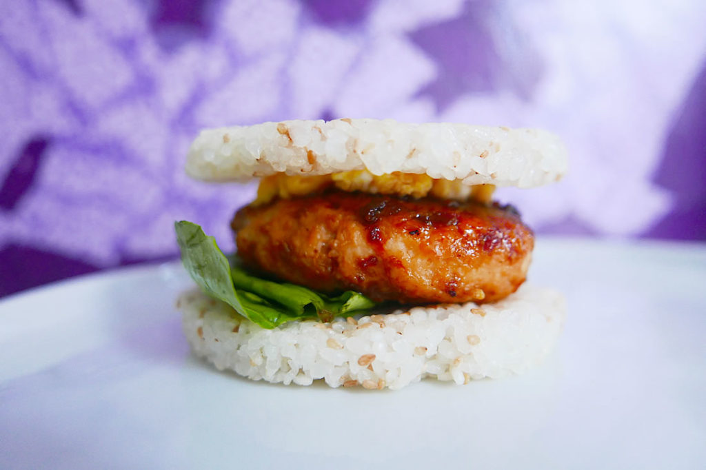 Tsukune rice burger