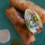 Fish and leek spring rolls