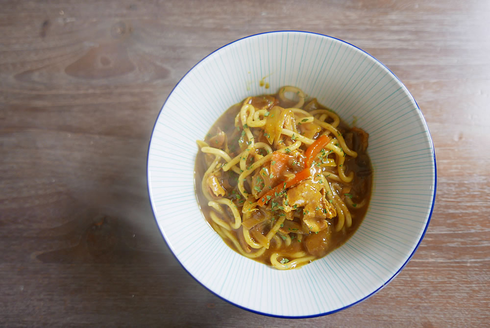 Curry udon without curry roux
