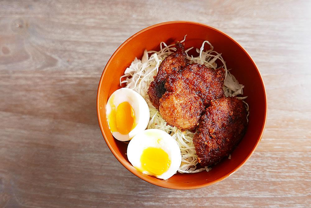 Pork katsu donburi (rice bowl)