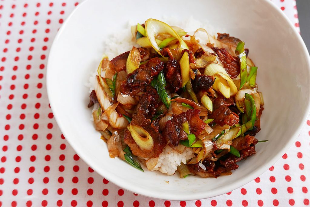 Twice-cooked Szechuan pork Stir Fry