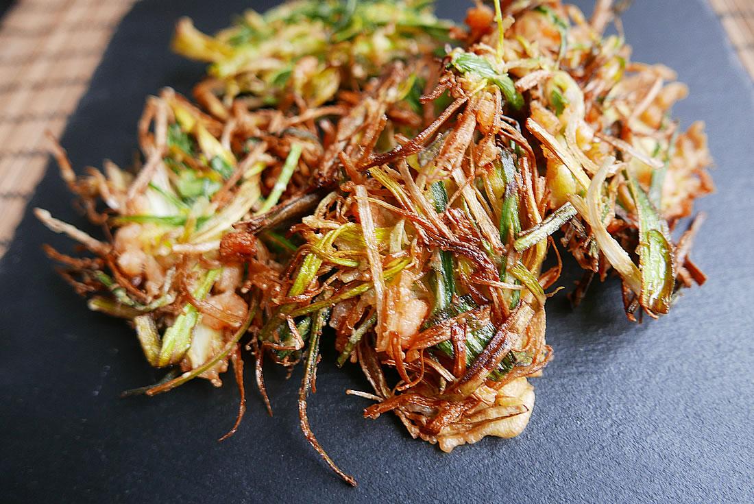 Kakiage tempura udon