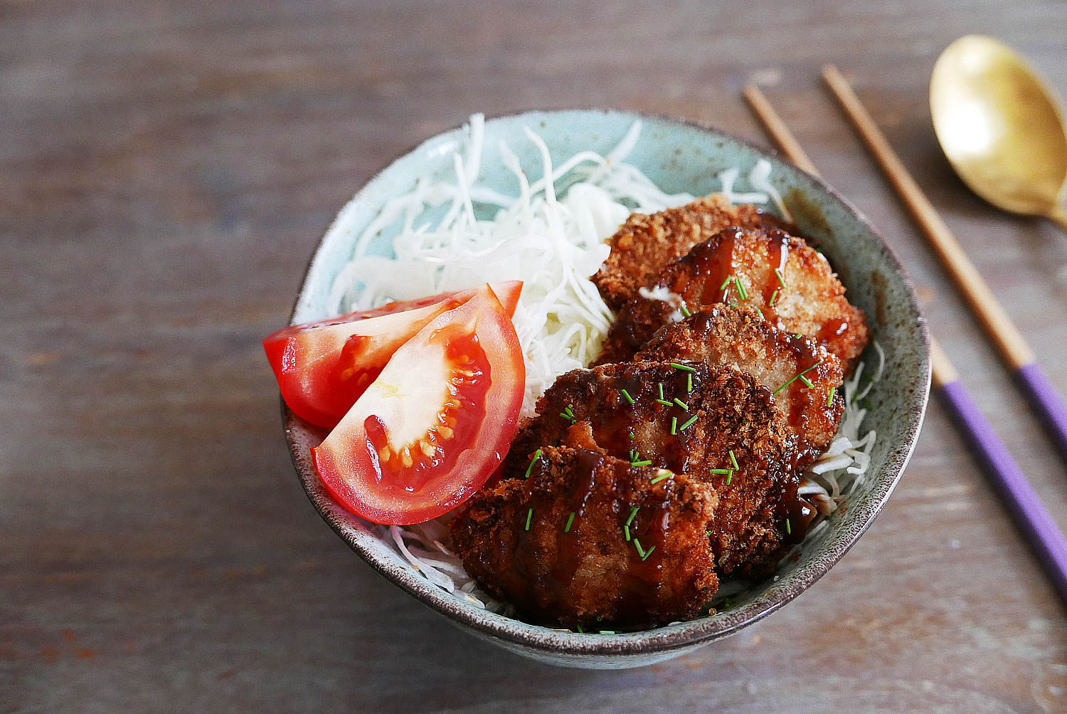 Katsudon bento - fried pork cutlet lunch box