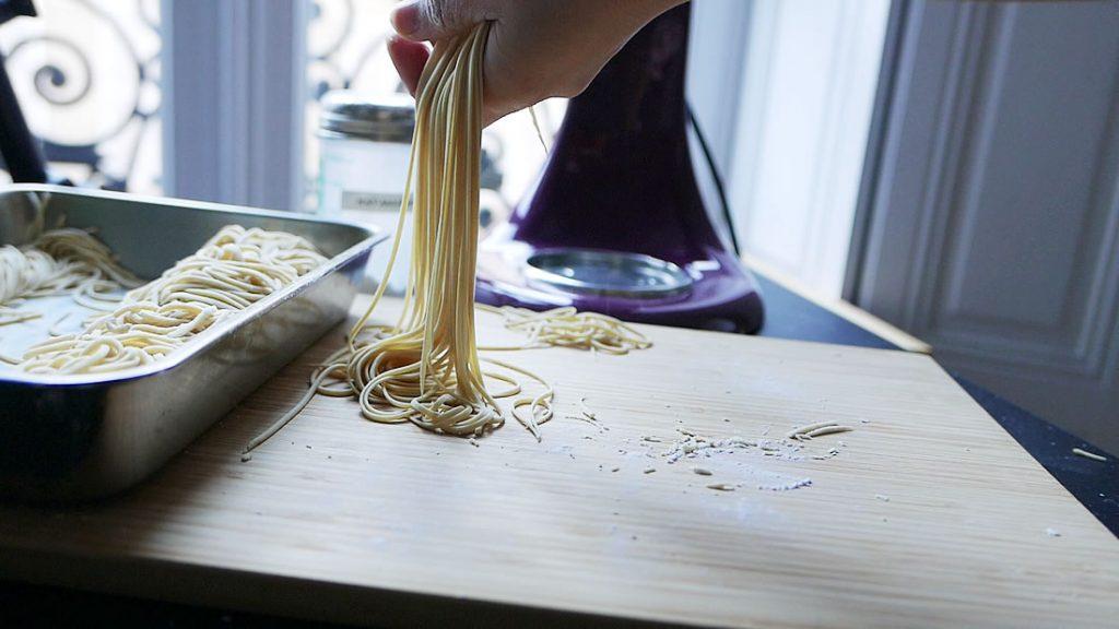 """Homemade """"teuchi"""" Egg Noodles"""