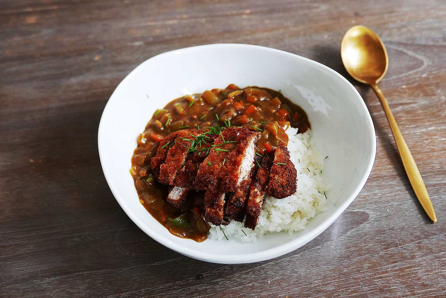 Katsu curry with curry powder